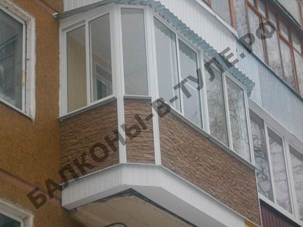 Остекление балконов под ключ, застеклить балкон в туле балкс.